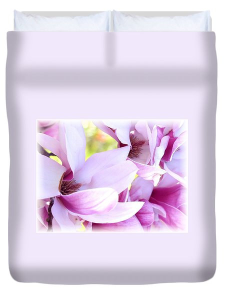 Magnolia Time Duvet Cover by Carol Sweetwood