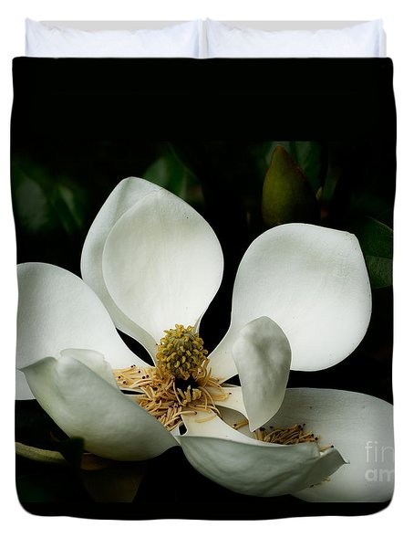 Magnolia Time Duvet Cover