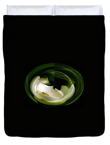 Magnolia Twirl Duvet Cover