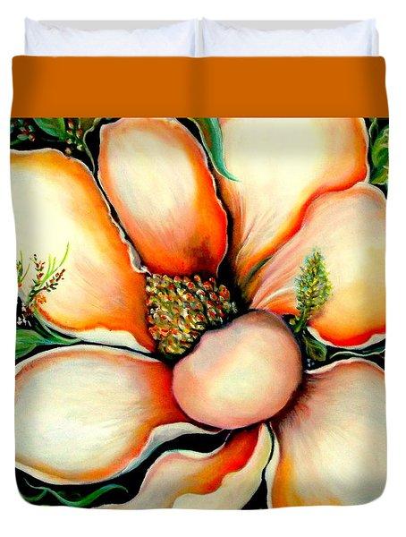 Magnolia Duvet Cover by Yolanda Rodriguez