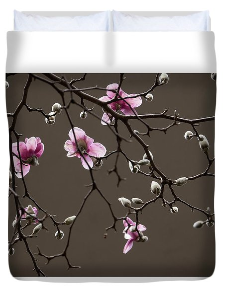 Magnolias In Bloom Duvet Cover