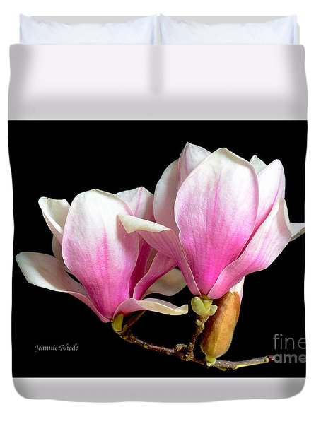 Magnolias In Spring Bloom Duvet Cover
