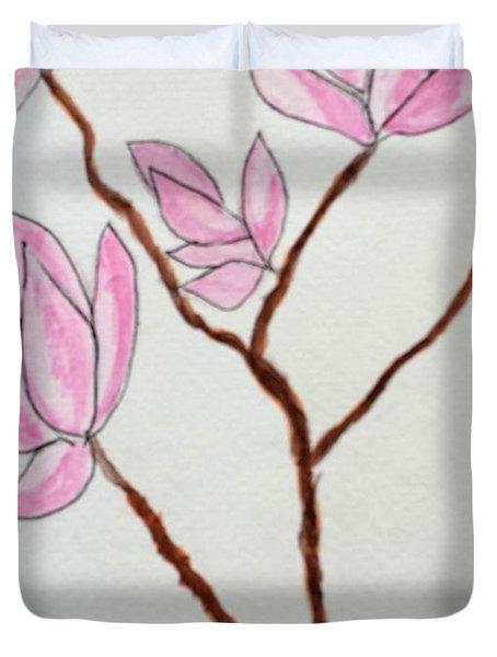 Magnolias Duvet Cover