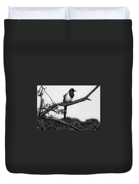 Magpie  Duvet Cover by Philip Openshaw