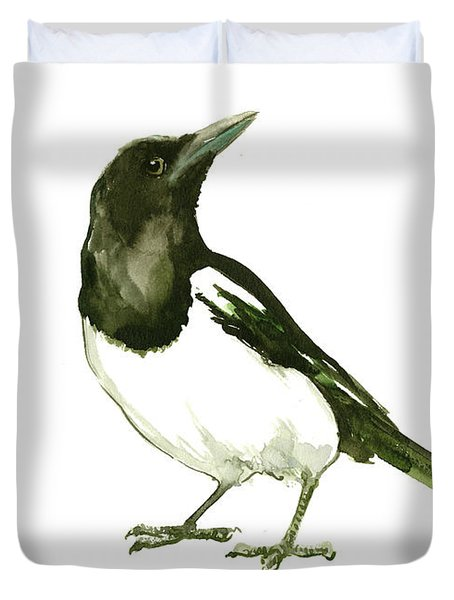 Magpie Duvet Cover by Suren Nersisyan