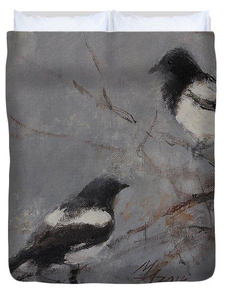 Magpies Duvet Cover