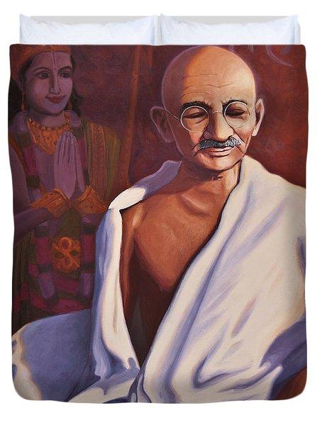 Mahatma Gandhi Duvet Cover by Steve Simon