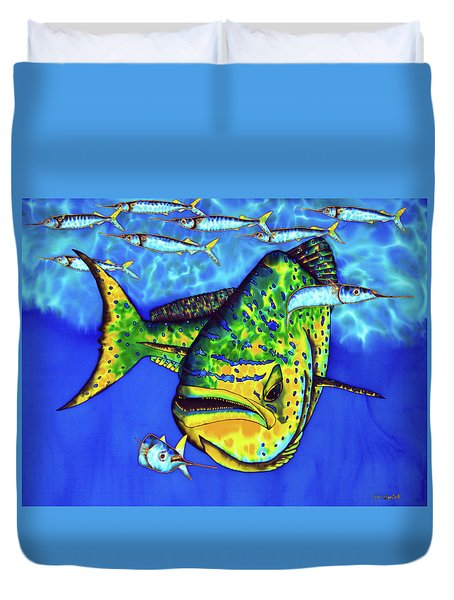 Mahi Mahi And Ballyhoo Duvet Cover