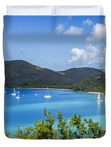 Duvet Cover featuring the photograph Maho And Francis Bays On St. John, Usvi by Adam Romanowicz