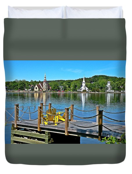 Mahone Bay Nova Scotia Duvet Cover
