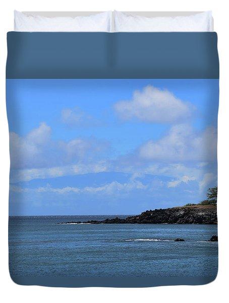 Duvet Cover featuring the photograph Mahukona by Pamela Walton