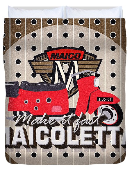 Maicoletta Scooter Advertising Duvet Cover