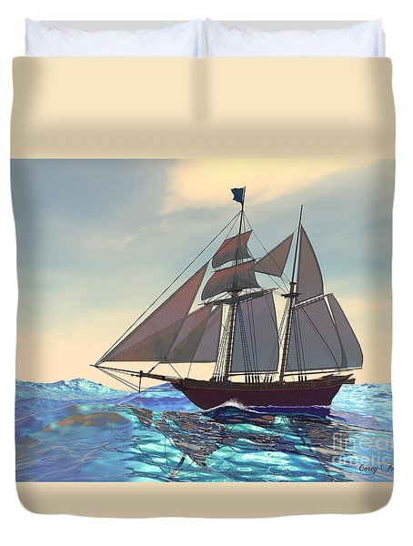 Maiden Voyage Duvet Cover by Corey Ford