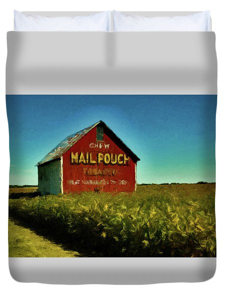 Mail Pouch Barn P D P Duvet Cover by David Dehner