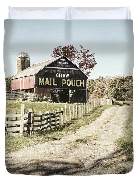 Mail Pouch Lane Duvet Cover