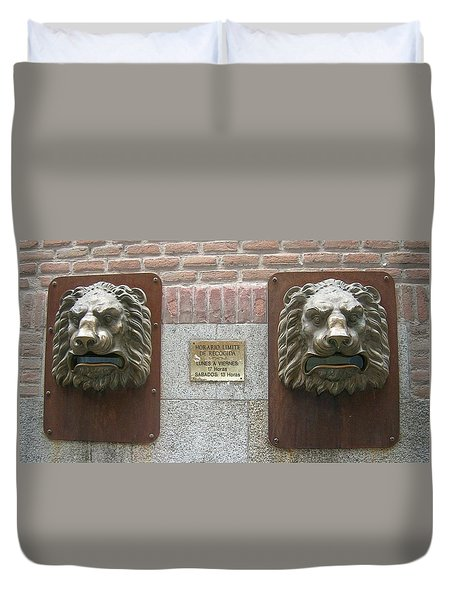 Mailboxes In Toledo Spain Duvet Cover by Valerie Ornstein