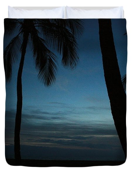 Ma'ili Beach After Sunset Duvet Cover