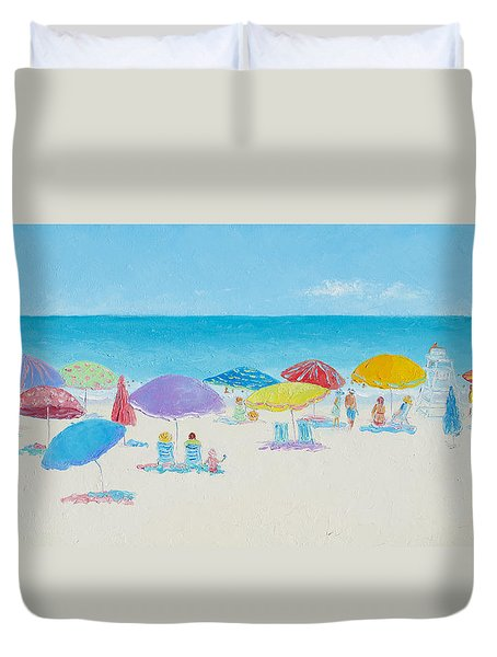 Main Beach East Hampton  Duvet Cover