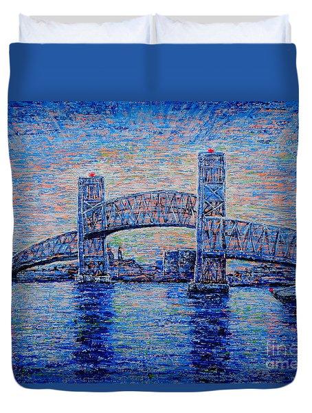 Main St.bridge,#2 Duvet Cover by Viktor Lazarev