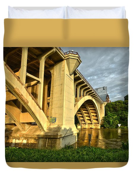 Main St Bridge Duvet Cover by Ricardo J Ruiz de Porras