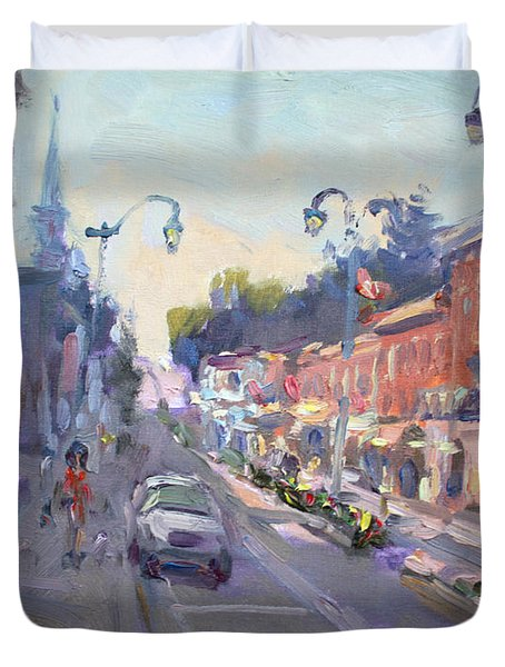 Main St Georgetown Downtown  Duvet Cover