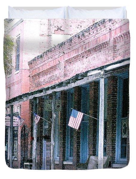 Main Street Micanopy Florida Duvet Cover