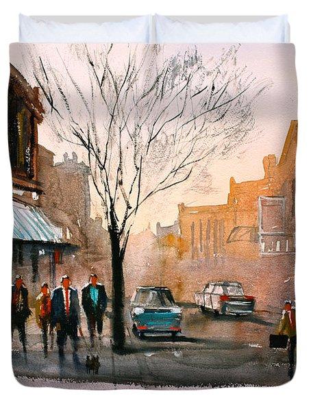 Main Street - Steven's Point Duvet Cover by Ryan Radke