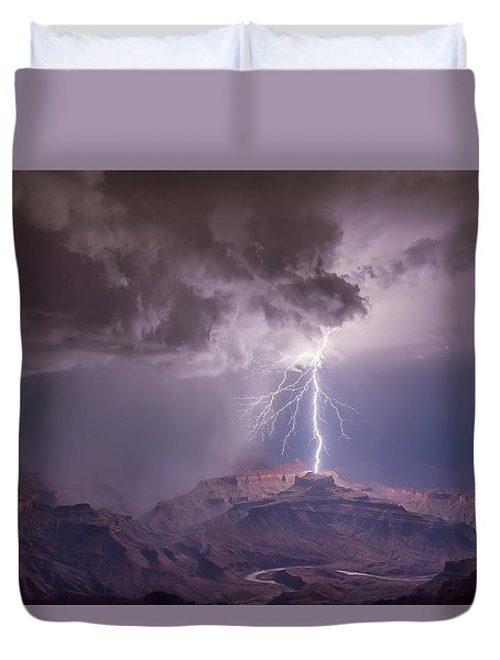 Main Strike Duvet Cover by James Menzies