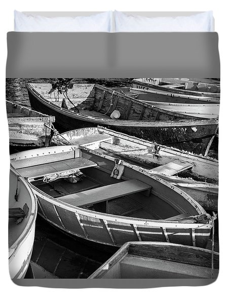 Duvet Cover featuring the photograph Maine Boats by Ranjay Mitra