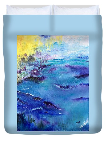 Maine Coast, First Impression Duvet Cover