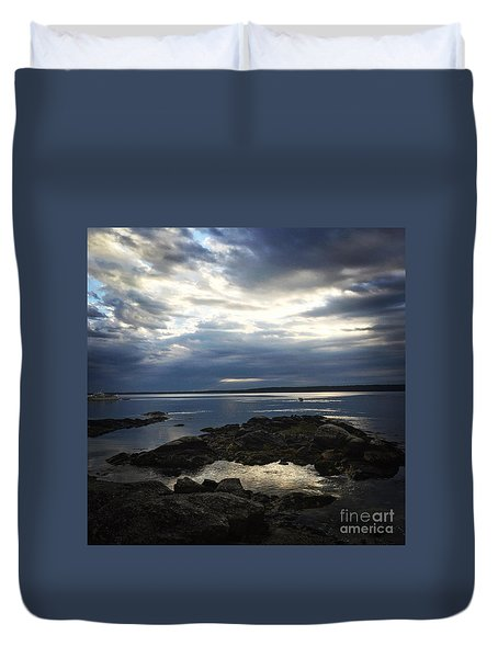 Maine Drama Duvet Cover