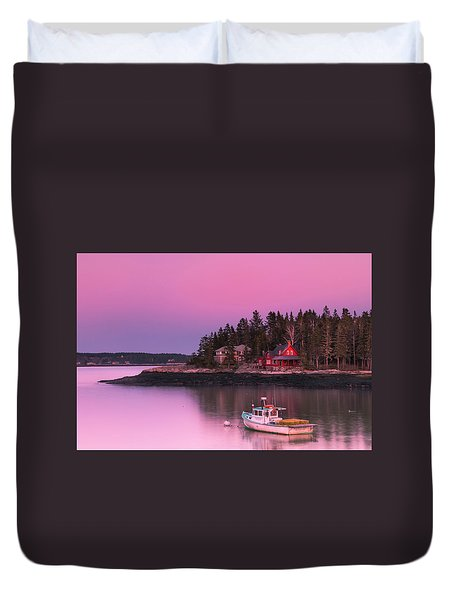 Duvet Cover featuring the photograph Maine Five Islands Coastal Sunset by Ranjay Mitra