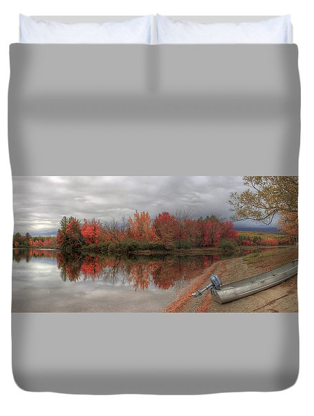 Maine Lake In Autumn Duvet Cover