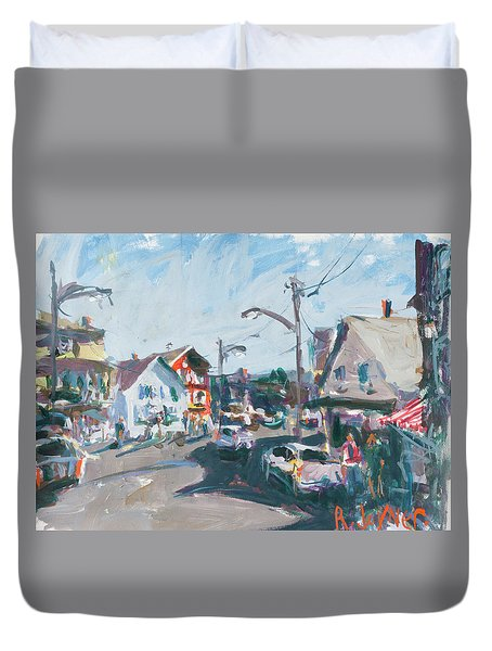 Duvet Cover featuring the painting Maine Landscape Art by Robert Joyner