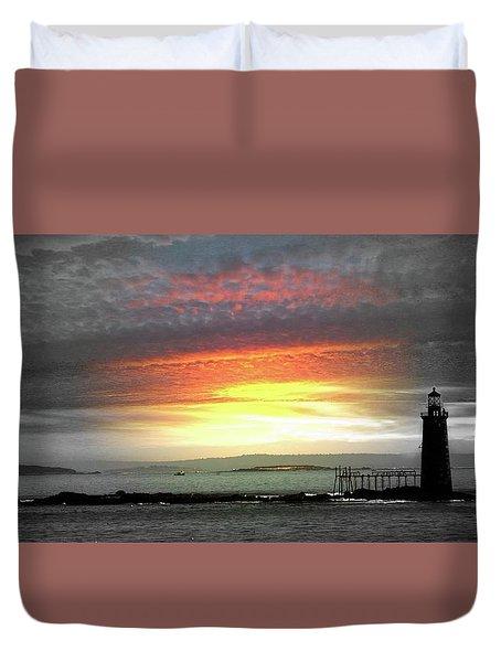 Maine Lighthouse Duvet Cover