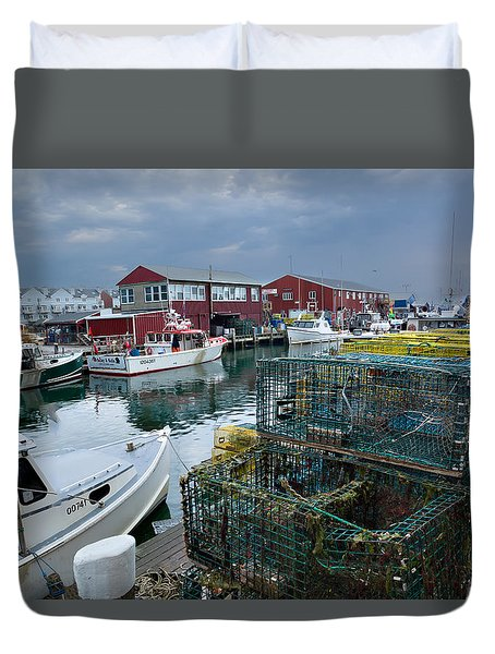 Maine Lobster Duvet Cover by Denis Lemay