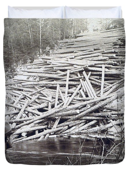 Maine Logging -  C 1903 Duvet Cover