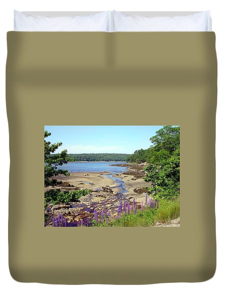 Maine Lupines Duvet Cover