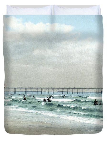 Maine, Old Orchard, 1900.  Duvet Cover