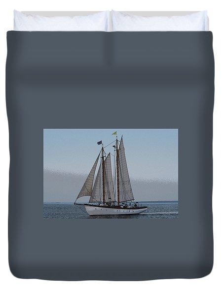 Maine Schooner Duvet Cover