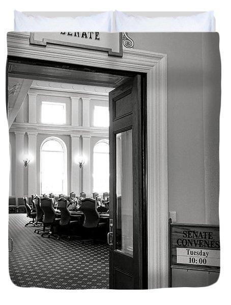 Maine Senate Chamber Doorway Duvet Cover