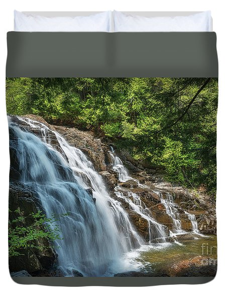 Maine Waterfall Duvet Cover by Sharon Seaward