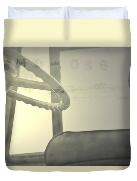 Duvet Cover featuring the photograph Maintenance  by Mark Ross