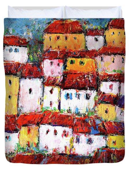 Maisons De Ville Duvet Cover