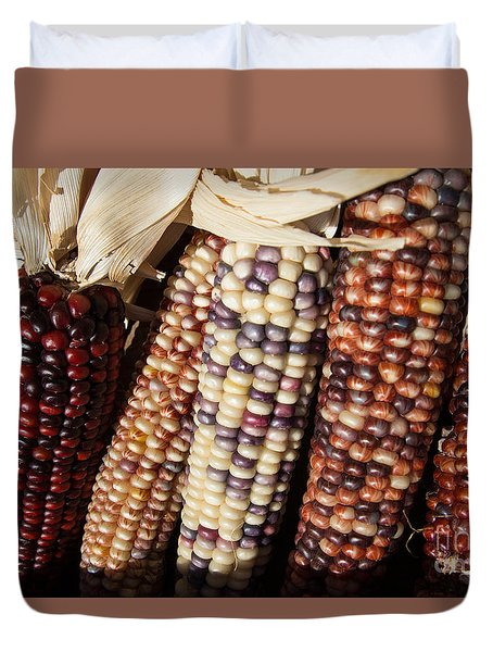 Duvet Cover featuring the photograph Maize by Suzanne Luft