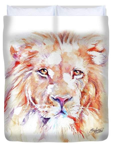 Majestic African Lion Duvet Cover by Stephie Butler