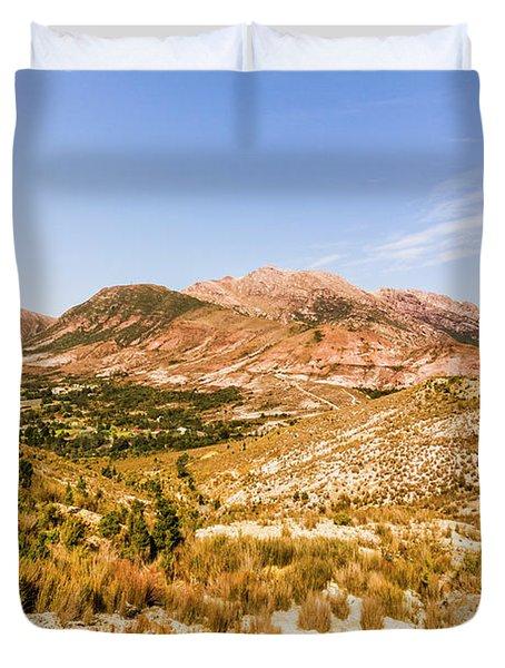 Majestic Arid Peaks Duvet Cover