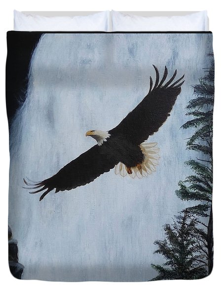 Majestic Bald Eagle Duvet Cover