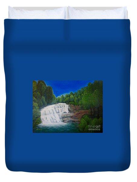 Majestic Bald River Falls Of Appalachia II Duvet Cover by Kimberlee Baxter