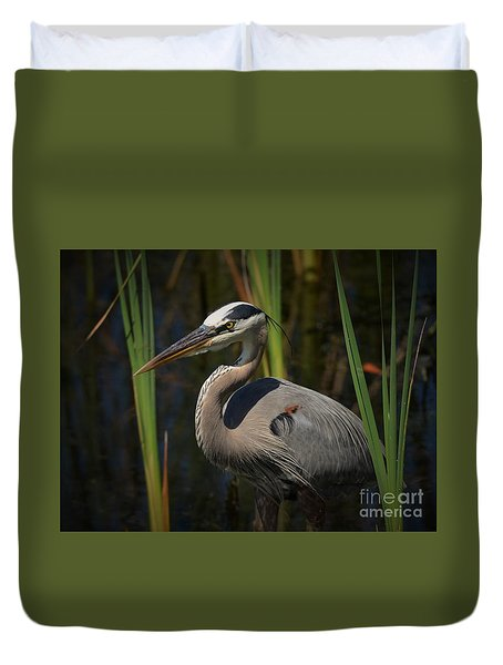 Duvet Cover featuring the photograph Majestic Bird by Pamela Blizzard